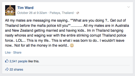 Get out of Thailand before the mafia police kill you